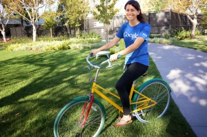 Sierra on a Google Bike