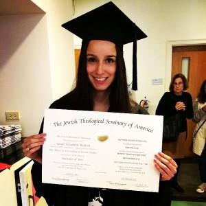 Sarah Wolfish Jewish Theological Seminary of America Graduation