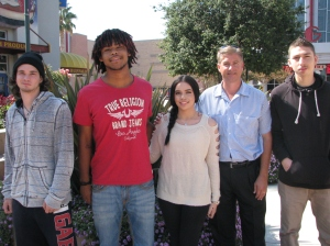 Valley High School Students with David Haubert
