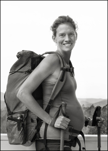 Jennifer Hiking During Pregnancy