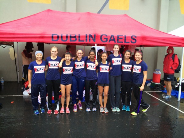 Dublin High School Varsity Girls Cross Country Team 2014