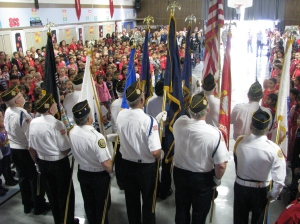 Frederiksen Elementary School Veterans Day Ceremony 2014 - Color Guard
