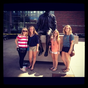 Purdue University Engineering Student Crystal Fisher and Friends