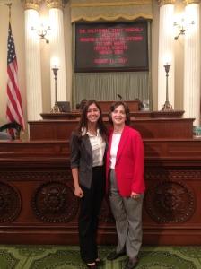 Tatiana and Assemblywoman Joan Buchanan