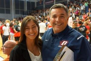 Tatiana and Mayor Tim Sbranti