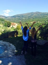 Rebecca with Friend Touring Italy