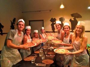 Rebecca at a Pizza Making Class