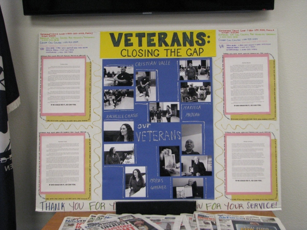 Valley High School Veterans Poster Board