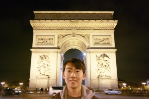 Andrew Song at the Arc de Triomphe