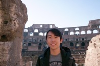 Andrew Song at the Coliseum in Rome