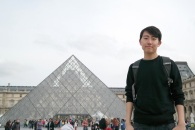 Andrew Song at the Louvre