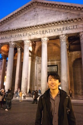 Andrew Song at the Pantheon