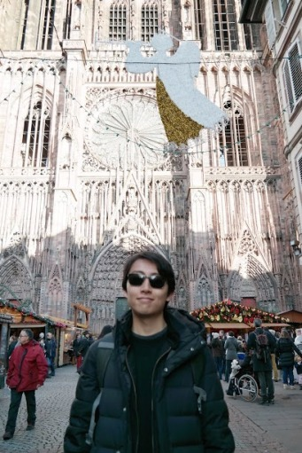 Andrew Song at the Strasbourg Christmas Market