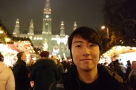 Andrew Song in the Vienna Christmas Market