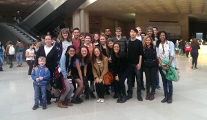Andrew with U of Chicago students in Paris