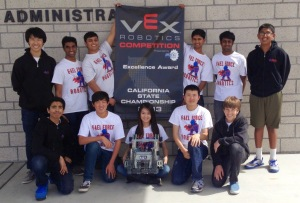 Kimberli and the Dublin High Robotics Club