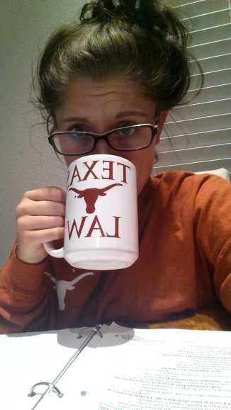 Kirsten Johansson University of Texas School of Law - late night studying