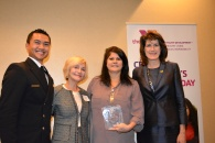 Liz Buckley with TV YMCA Award Ceremony Attendees