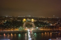 View from the Eiffel Tower at night
