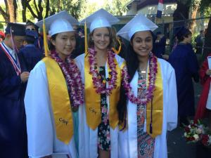 Alexandra (middle) at Dublin High Commencement