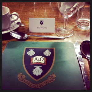 Oxford University first formal dinner of the year
