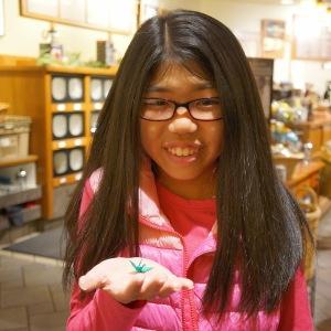 Bailey Morita with Origami Crane