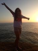 Jenny Lutz at Sunset Cliffs