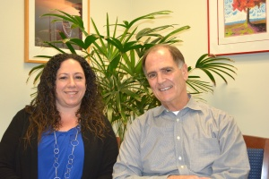 Superintendent Dr Stephen Hanke an Dublin Unified School Board President Amy Miller