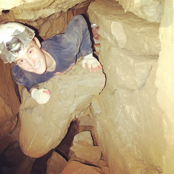 Eric on a caving trip in North Alabama