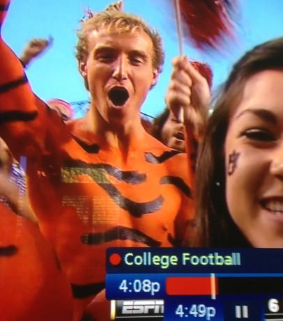 Eric on ESPN during an Auburn football game