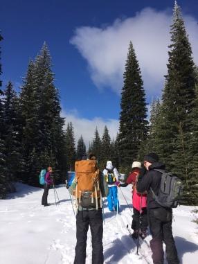 Jillian Cross Country Skiing with Friends