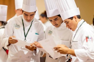 Marcos Castro with Peers at the Culinary Institute of America