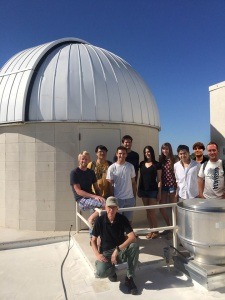 UC Davis Astronomy Class at Observatory