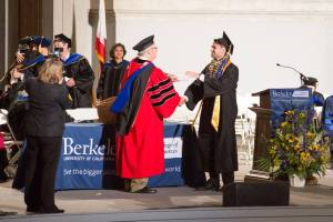Aslan Brown Receiving Berkeley Diploma