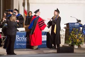 Aslan Brown Receiving Berkeley Diploma