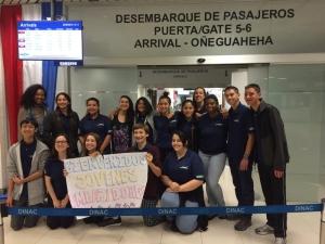 Arriving at Asuncion Airport