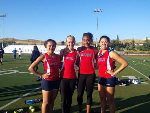 DHS Girls 4x400m relay record-breaking team