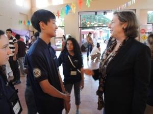 WIth Paraguay Ambassador Leslie Basset