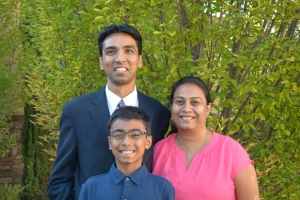 Sameer with his family