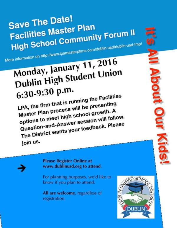 Dublin High School Master Plan Community Forum 2