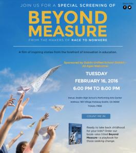 Beyond Measure Dublin High School Screening