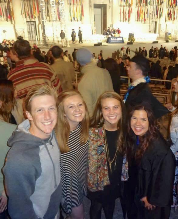 Grad Photo with Joe Nealon, Jaime LeQuin, and Rebecca Beasley