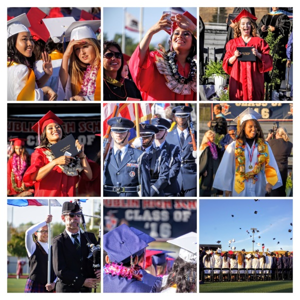 Dublin High School Commencement 2016 Collage
