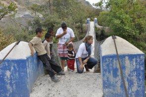 Avery in Guatemal bridge inspection