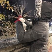 Snowman Liz made at UMich