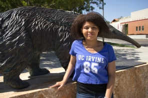 Me in front of Anteater Statue